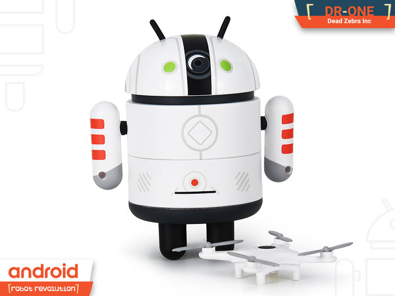 CLEAR//R ANDROID ROBOT REVOLUTION SERIES MINI FIGURE GOOGLE